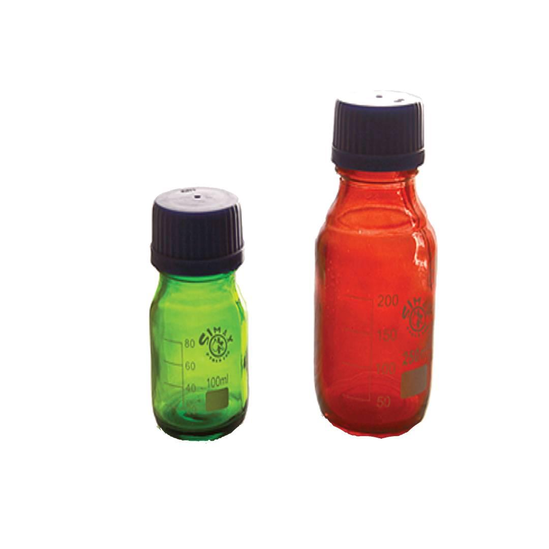 بطری در پیچ دار قابل اتوکلاو رنگی 2412